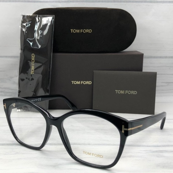 Tom Ford TF5435 001 Shiny Black / Demo Lens 57mm Boutique